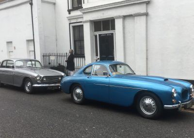 Bristol 404 and 410 outside Chelsea Arts Club